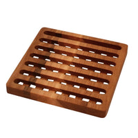 Square yellow birch pot trivet