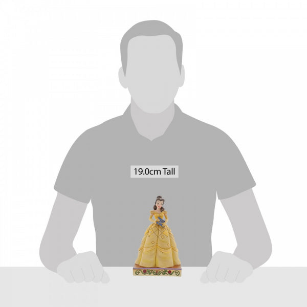 Disney Traditions Collection: Book-Smart Beauty (Belle Princess Passion Figurine)