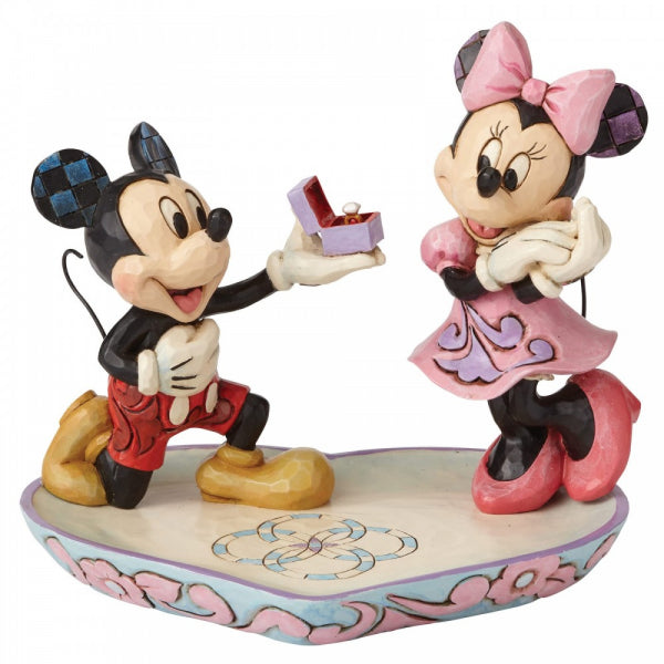 Disney Traditions Collection: A Magical Moment (Mickey Proposing to Minnie Mouse Figurine)