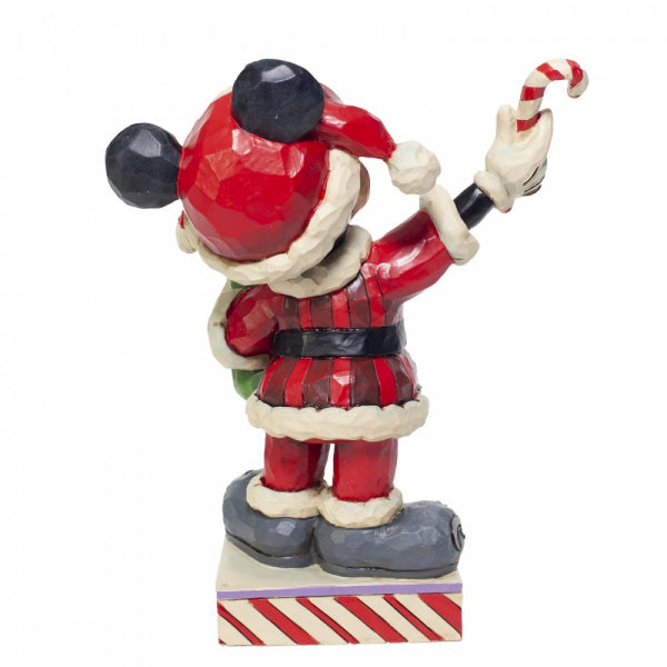 Disney Traditions Collection: Mickey Mouse with Candy Canes Figurine