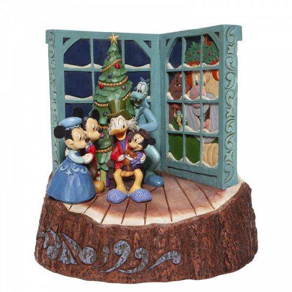 Disney Traditions Collection: Carved by Heart Mickey Mouse Christmas Carol Figurine