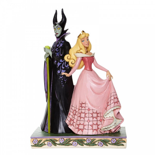 Disney Traditions Collection: Sorcery and Serenity - Aurora and Maleficent Figurine