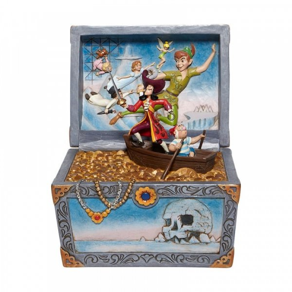 Disney Traditions Collection: Treasure strewn Tableau - Peter Pan Flying Scene Figurine