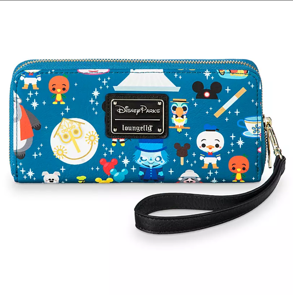 Disney Loungefly - Disney Parks Minis Zip-Around Wristlet Wallet - Disney Parks Exclusive