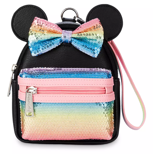Disney Loungefly - Minnie Mouse Sequined Mini Backpack Wristlet - Disney Parks Exclusive