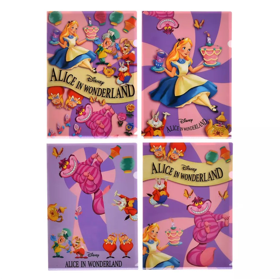Clear files (set of 4)  - Alice in Wonderland 70 Birthday - ShopDisney Japan