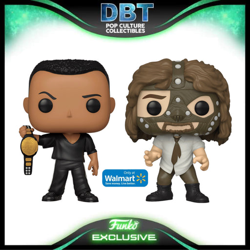 WWE: The Rock and Mankind 2-Pack Exclusive Funko Pop