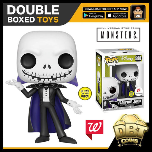 Disney NBC: GITD Vampire Jack Skellington Walgreens Exclusive Funko Pop