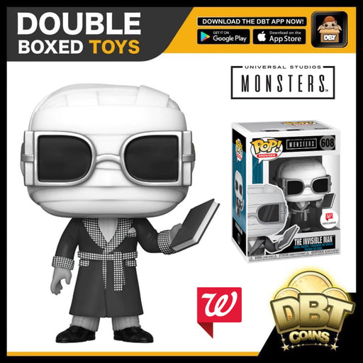 Universal Monsters: Invisible Man (Black & White) Walgreens Exclusive Funko Pop