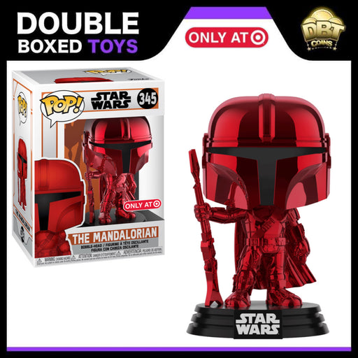 Star Wars: The Mandalorian (Red Chrome) Target Exclusive Funko Pop