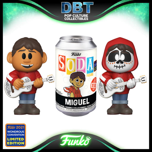 Disney Pixar Coco: Miguel Wonderous Convention 2021 Exclusive LE10000 Vinyl Soda (with chance of chase)