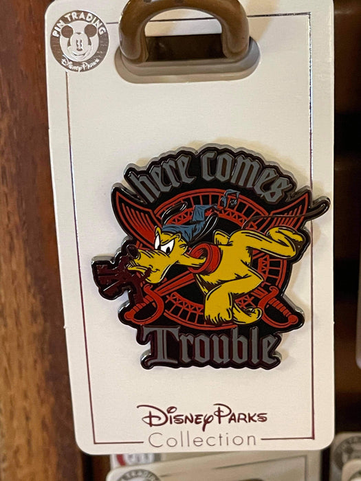 Disney Parks 'Pin Trader' Pluto Here Comes Trouble Pin
