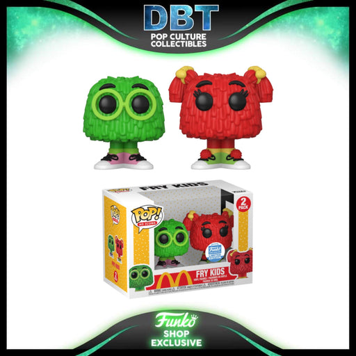 Ad Icons: Mcdonalds - Fry Kids (Green / Red) 2-Pack Funko-Shop Exclusive Funko Pop