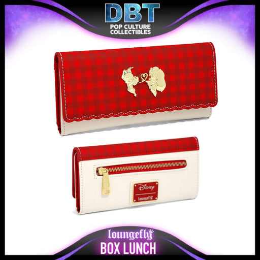 Loungefly Disney Lady and the Tramp Love Plaid Wallet - BoxLunch Exclusive