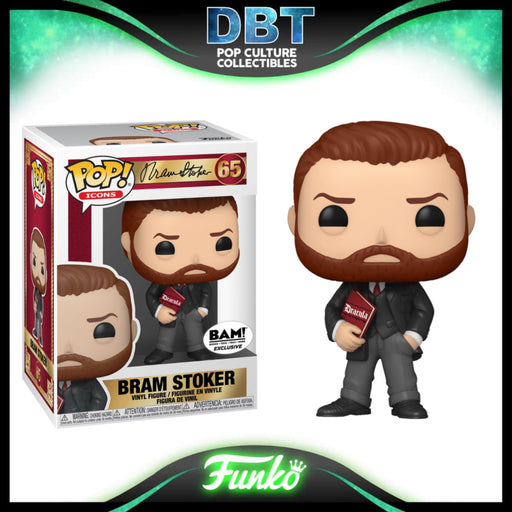 Icon: Bram Stoker with Book BAM Exclusive Funko Pop