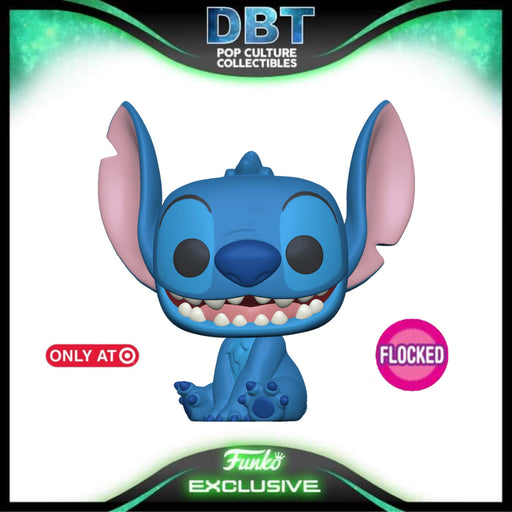 Disney Lilo & Stitch: Flocked Smiling Seated Stitch Target Exclusive Funko Pop