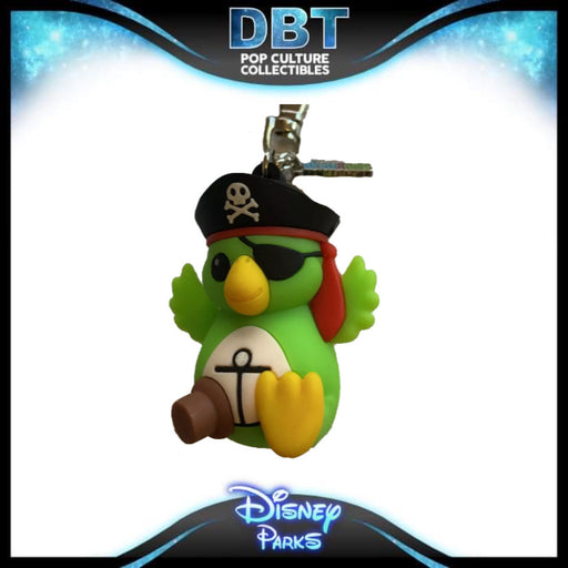 Pirates Of The Caribbean Parrot Wishable Keychain - Disney Parks Exclusive