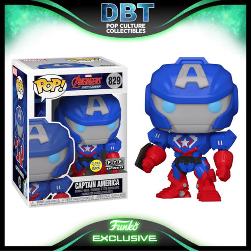 Marvel MechStrike: GITD Captain America FYE Exclusive Funko Pop
