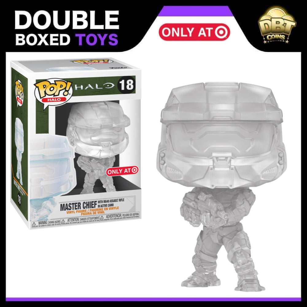 Halo Infinite: Master Chief with MA40 Assault Rifle in Active Camo Target Exclusive Funko Pop