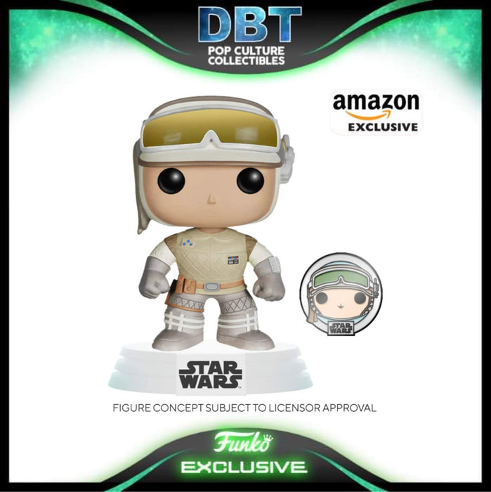 Star Wars: Luke Skywalker (Hoth) Amazon Exclusive Funko Pop with Pin