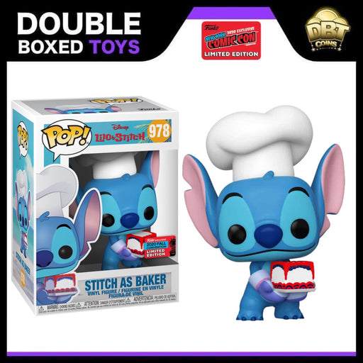 Disney: Stitch as Baker NYCC 2020 Exclusive Funko Pop