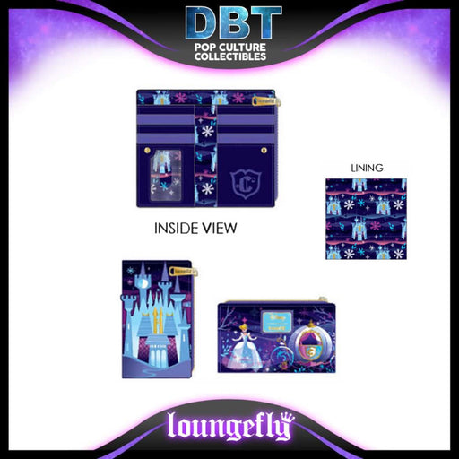 Disney Loungefly: Cinderella Castle Series Flap Wallet