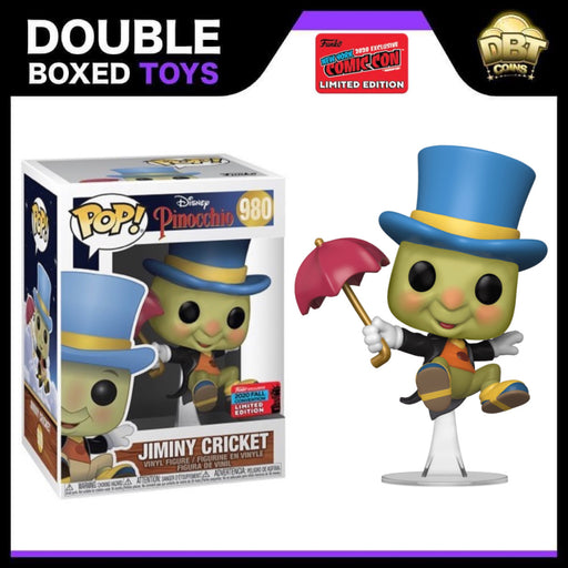 Disney Pinocchio: Jiminy Cricket NYCC 2020 Exclusive Funko Pop