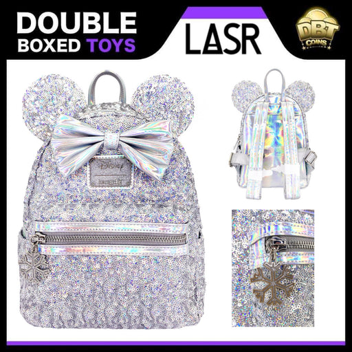 Disney Loungefly: Minnie Mouse Holographic Sequin Mini Backpack - LASR Exclusive