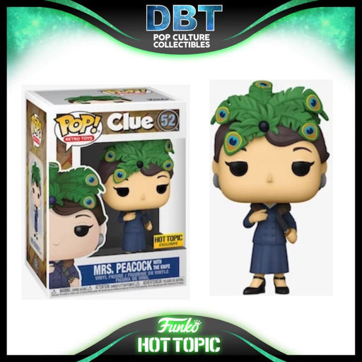 Clue: Mrs. Peacock With The Knife Hot Topic Exclusive Funko Pop