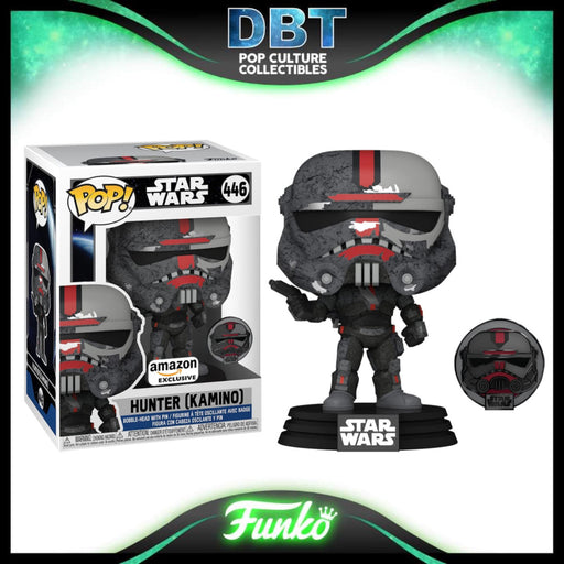 Star Wars The Bad Batch: Hunter (Kamino) Across The Galaxay Amazon Exclusive Funko Pop & Pin
