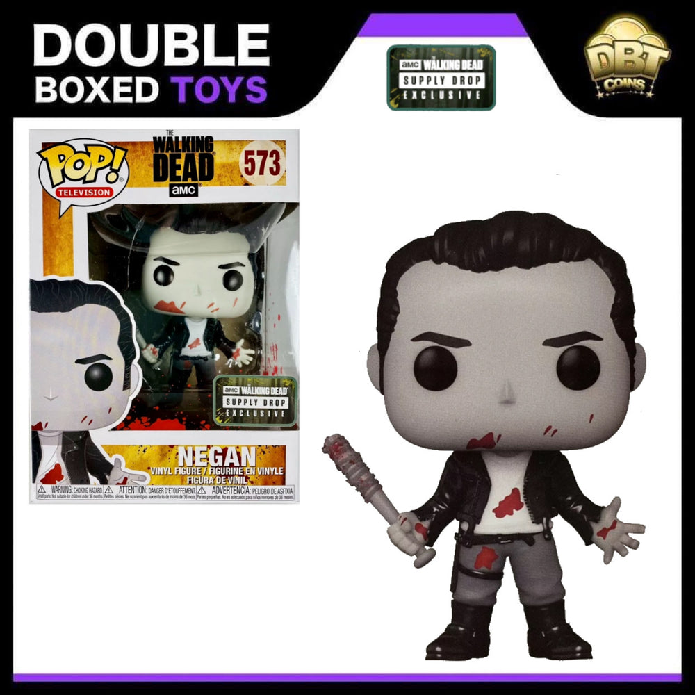 The Walking Dead: Negan (Black & White Bloody) Supply Drop Exclusive Funko Pop