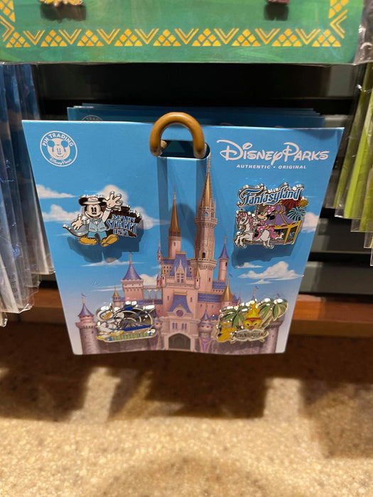Disney Parks 'Pin Trader' Magic Kingdom Lands Set Of 4 Pins
