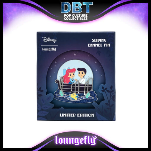 Disney Loungefly - The Little Mermaid Kiss the Girl Collector Box Sliding Enamel Pin - LE1000