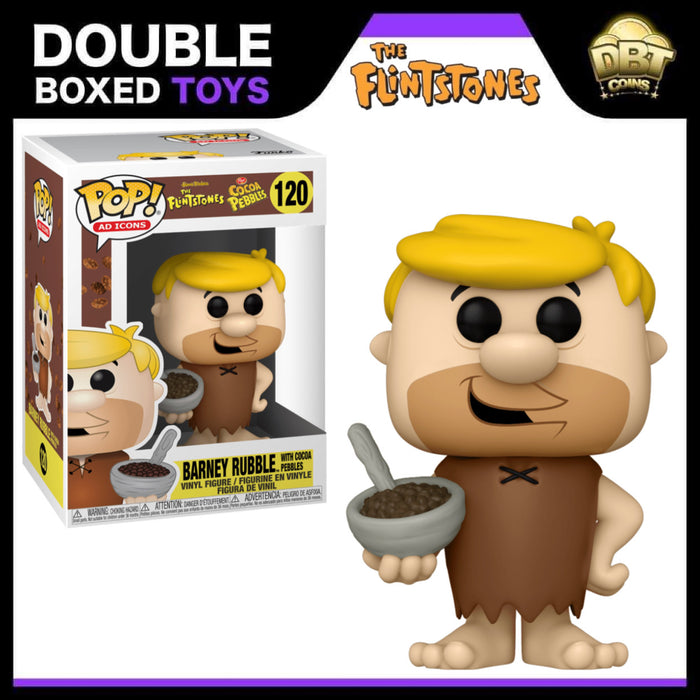 Ad Icons: The Flintstones Barney Rubble with Cocoa Pebbles Funko Pop