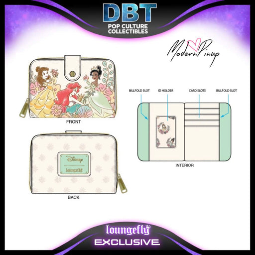 Disney Loungefly - Princess Parade Wallet - Modern Pinup Exclusive