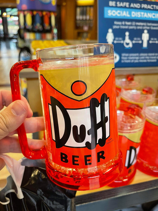 Universal Studios Simpsons Duff Beer Glass Handle