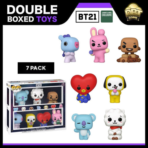 BTS: BT21 Barnes & Noble Exclusive 7-Pack Funko Pop