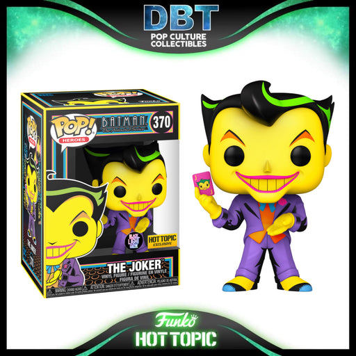 Batman The Animated Series: The Joker Black Light Glow Hot Topic Exclusive Funko Pop