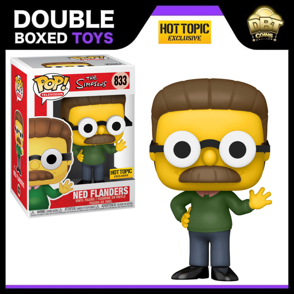 The Simpsons: Ned Flanders Hot Topic Exclusive Funko Pop
