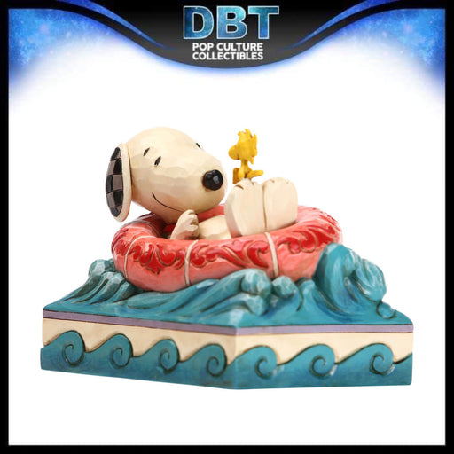 "Jim Shore Peanuts: Snoopy and Woodstock in Floatie 4"" Mini Figurine"