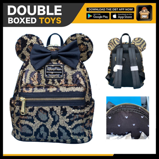 Disney Loungefly - Animal Kindom Leopard Sequin Mini Backpack - Disney Parks Exclusive