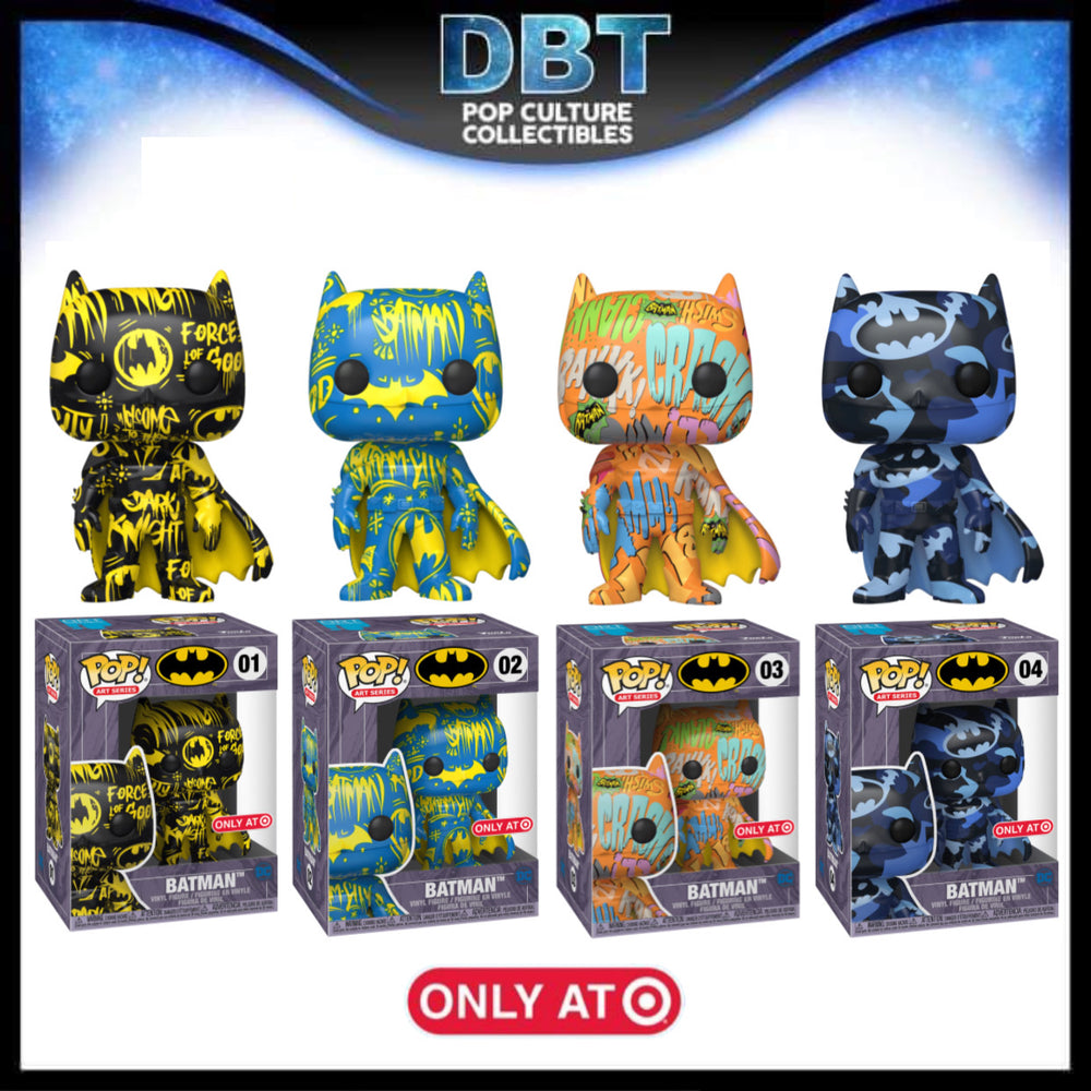 Batman: Art Series Target Exclusive Set of 4 Funko Pops (Sealed in Hard Stacks)