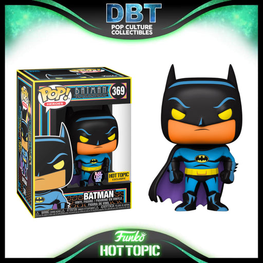 Batman The Animated Series: Batman Black Light Glow Hot Topic Exclusive Funko Pop
