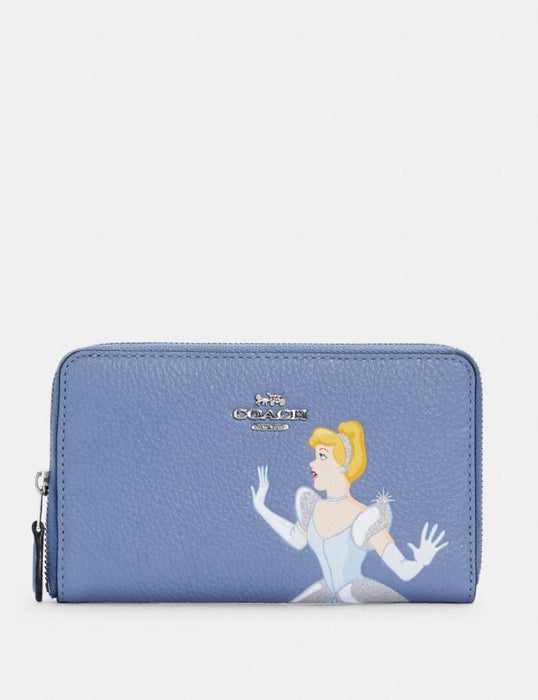 Disney X Coach Medium Id Zip Wallet With Cinderella