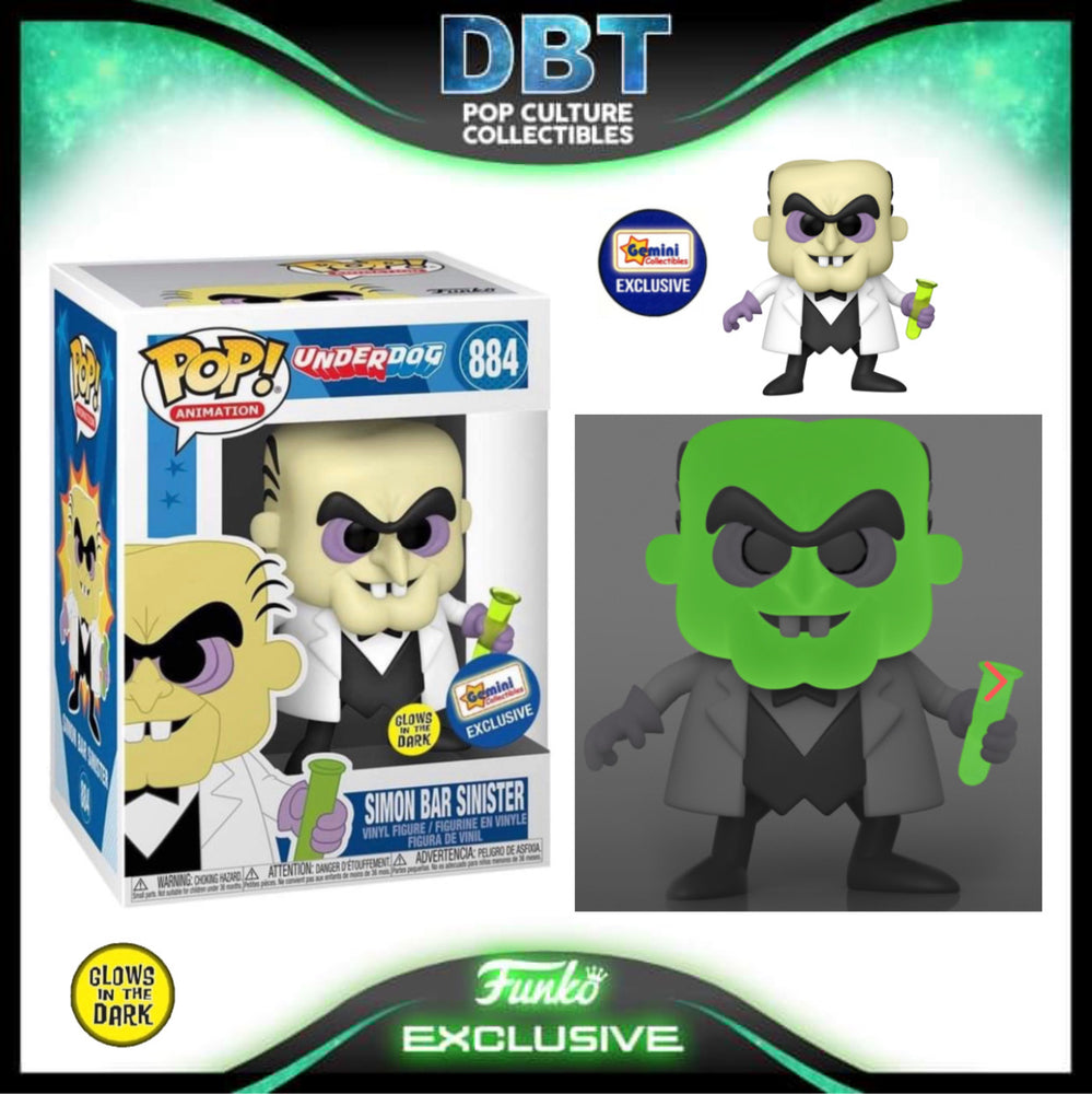 Underdog: GITD Simon Bar Sinister Gemini Exclusive Funko Pop