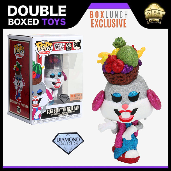 Looney Tunes: Bugs Bunny (Fruit Hat) Diamond Collection Box Lunch Exclusive Funko Pop