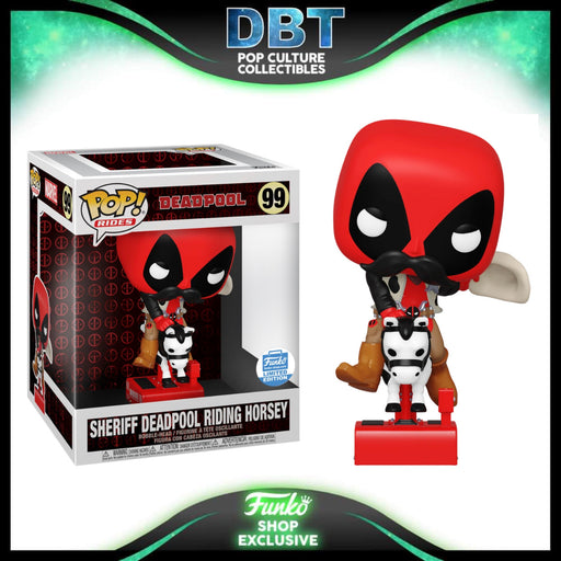 Marvel Deadpool: Sheriff Deadpool Riding Horsey Funko-Shop Exclusive Funko Pop Ride