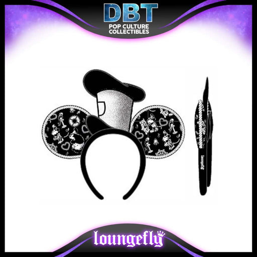 Disney Loungefly: Steamboat Willie Applique Hat Rope Piping Ears Headband