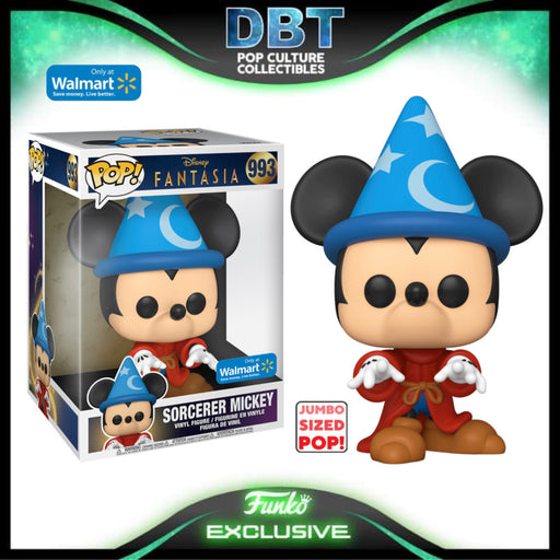 Disney Fantasia: Sorcerer Mickey Walmart Exclusive Jumbo Funko Pop