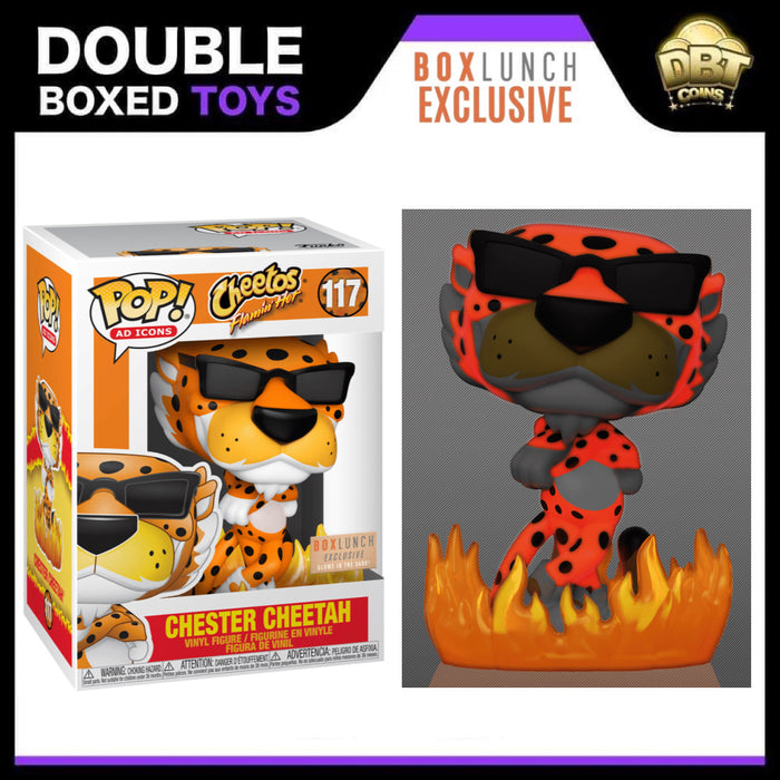 Ad Icons: Flamin' Hot Cheetos - GITD Chester Cheetah Box Lunch Exclusive Funko Pop